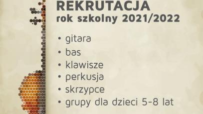 Rekrutacja 2021 - muzyka